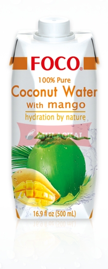 Picture of FOCO Coconut Water with Mango 12x500ml