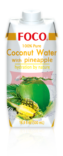 Picture of FOCO Coconut Water with Pineapple 12x500ml