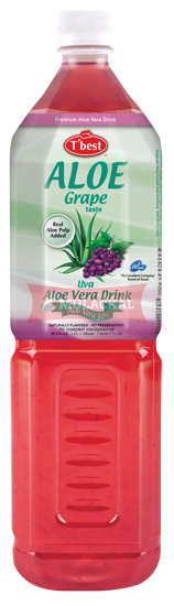 Picture of T'BEST Aloe Vera Grape 12x1.5L