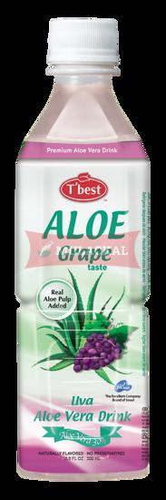 Picture of T'BEST Aloe Vera Grape 20x500ml