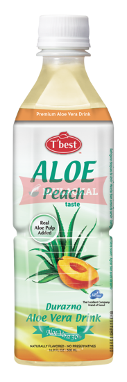 Picture of T'BEST Aloe Vera Peach 20x500ml