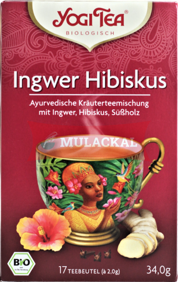 Picture of YOGI TEA Ingwer Hibiskus Bio 6x34g