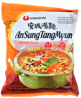 Picture of NONG SHIM Ansung Tungmyun Hot&Spicy Instant Noodle 20x125g