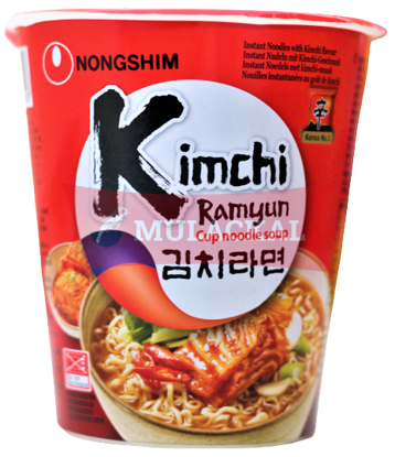 Picture of NONG SHIM Kimchi Cup Noodles 12x75g