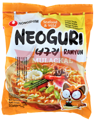 Picture of NONG SHIM Neoguri Seafood Instant Noodles Mild 20x120g