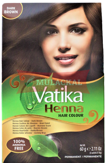 Picture of VATIKA Henna Dark Brown 24x60g