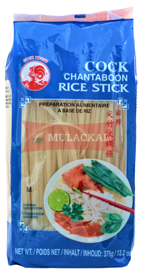 COCK Rice noodle (Rice Stick) 3mm  375g