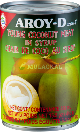AROY-D Canned Coconut Meat In Syrup 440g