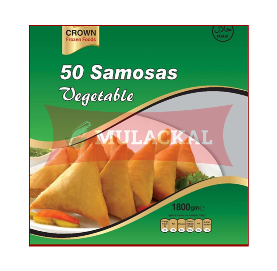 CROWN Vegetable Samosa 50Pcs 1.8kg