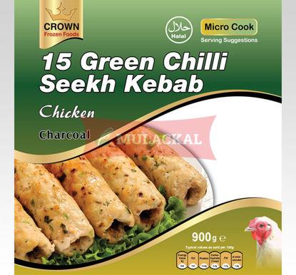 CROWN Green Chilli Chicken Seekh Kabab 15Pcs 900g