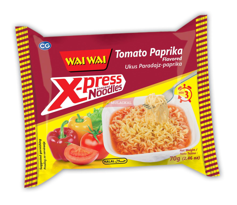 WAI WAI Xpress Tomato Paprika Flavour Instant Noodle 70g