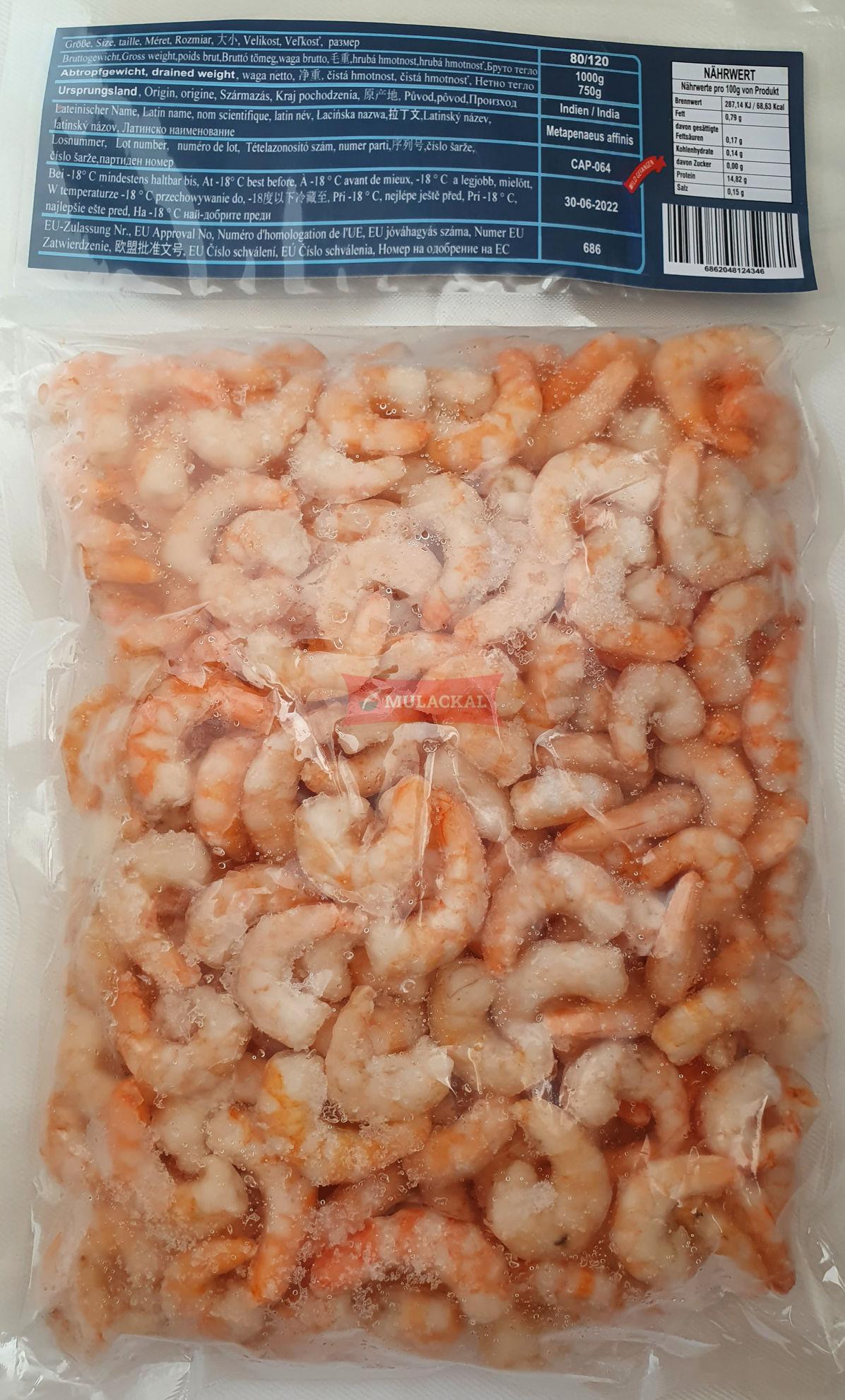 MULACKAL Cocktail Shrimps 80/120 1kg