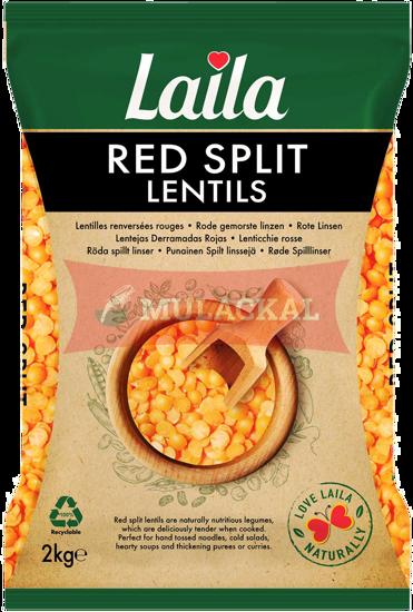 LAILA Red Split Lentils 2kg